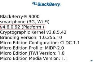 Verificando versão de Sistema do seu Blackberry